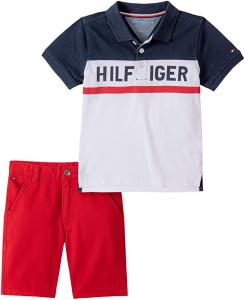 Tommy Hilfiger polo tričko s kraťasy