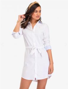 U.S. Polo Assn. dámské šaty SOLID OXFORD