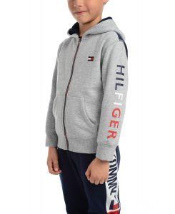 Tommy Hilfiger dětská mikina Icon Pieced Colorblocked Full-Zip Fleece Logo Hoodie