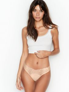 Victoria Secret dámská tanga Cotton Picot Trim