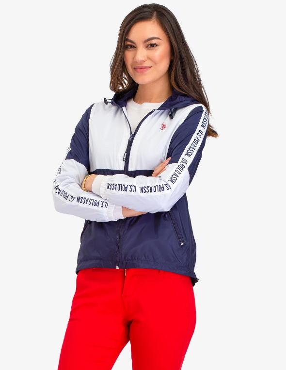 U.S. Polo Assn bunda Side Taping Hooded Windbreaker U.S. Polo Assn.