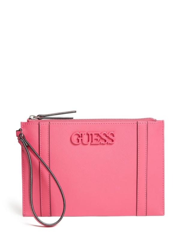 GUESS peněženka Alastair Faux-Leather Wristlet