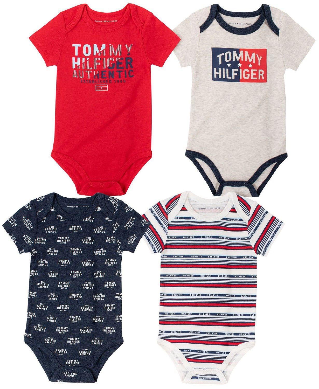 Tommy Hilfiger luxusní oblečení pro miminko 4 Pieces Pack Bodysuits