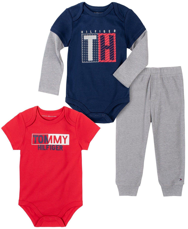 Tommy Hilfiger luxusní oblečení pro miminko Baby Boys Bodysuits Pant Set