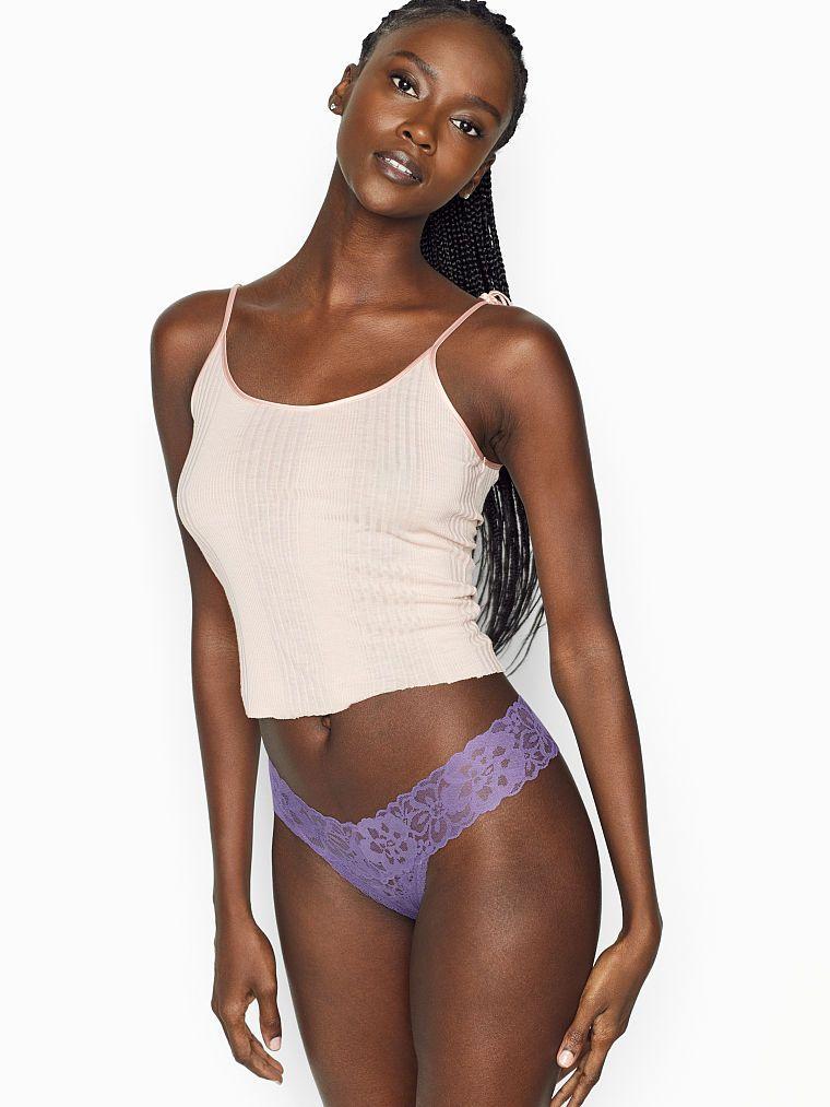 Victoria Secret dámská tanga Floral Lace Thong Panty Victoria's Secret