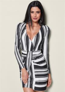 VENUS dámské šaty Stripe Bodycon Dress