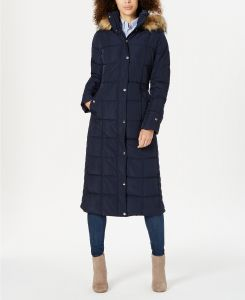 Tommy Hilfiger dámská bunda Faux-Fur-Trim Hooded