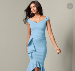 VENUS dámské šaty RUFFLE DETAIL
