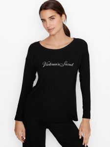 Victoria's Secret dámské tričko s dlouhým rukávem Supersoft
