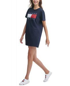 Tommy Hilfiger dámské šaty Logo-Print Cotton T-Shirt