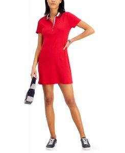 Tommy Hilfiger dámské šaty Cotton Polka-Dot Polo Dress