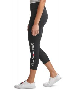 Tommy Hilfiger legíny Logo Cropped High-Waist Leggings