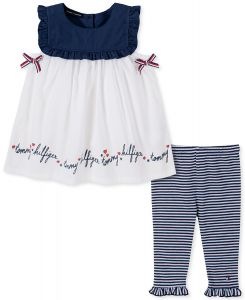 Tommy Hilfiger dívčí set oblečení Leggings Set