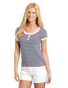 U.S. Polo Assn dámský svetr Striped Henley