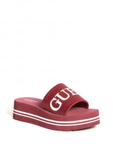 GUESS dámské pantofle Ashlann Logo Flatform Sandals
