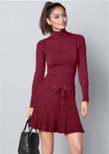 VENUS šaty Pleated sweater dress