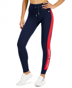 Tommy Hilfiger dámské legíny Logo-Stripe High-Rise Full-Length