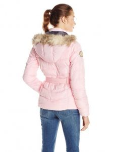 U.S. Polo Assn bunda Self Tie Puffer Jacket with Faux Fur Trimmed Hood U.S. Polo Assn.
