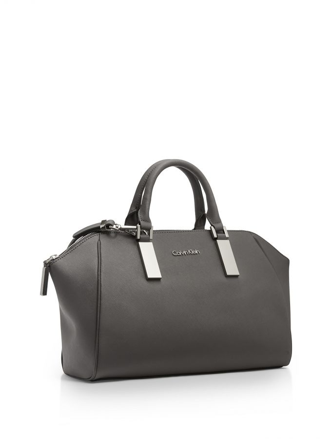 Calvin Klein kabelka Scarlett leather city dome satchel