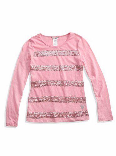 GUESS dívčí tričko Maxine Sequined Tee